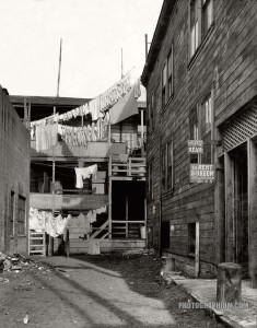 San Francisco slum (1935).