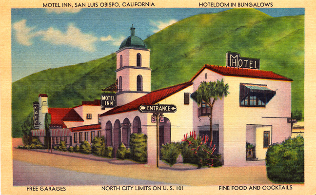 Motel Inn postcard.