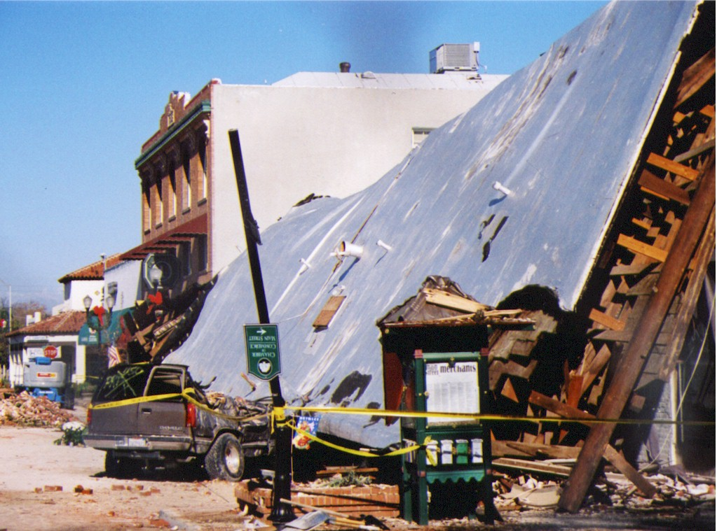 Paso Robles, San Simeon earthquake damage (2003).