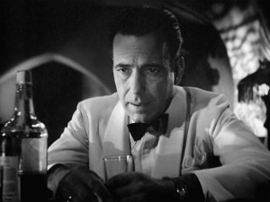 "Humphrey Bogart in ""Casablanca"" (1942)."