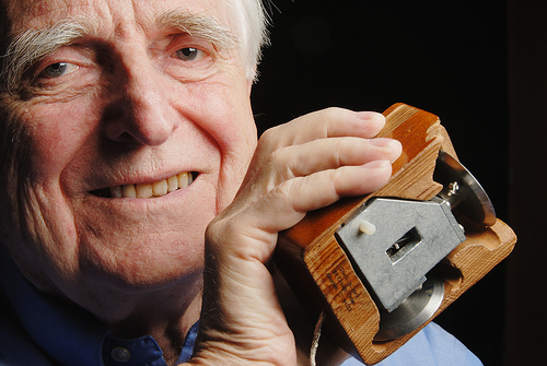 Douglas Engelbart and the first computer mouse.