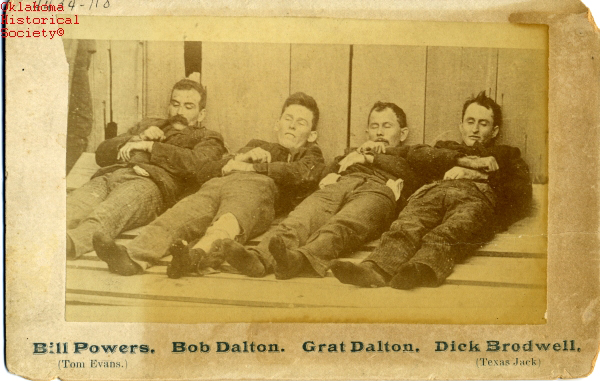 Dalton Gang brothers killed robbing a bank (1892).