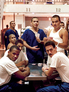 Inmates at Castaic North County Correctional Facility.