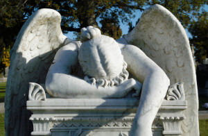Angel of Grief at Cypress Lawn Memorial Park.