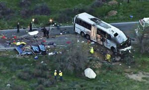 Tour bus crash on Hwy. 38 (2013).