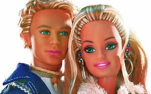 Blaine and Barbie.