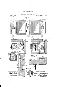 Willis Farnsworth, of Petaluma, coin-operated locker patent (1912).