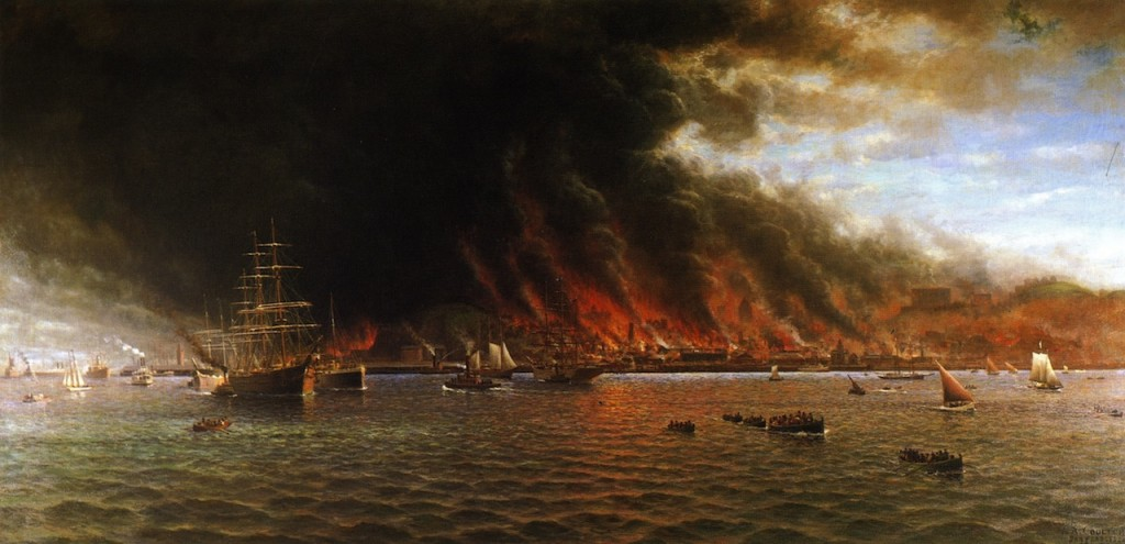 "William Coulter's ""San Francisco Fire"" (1906)."