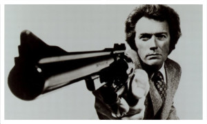 "Clint Eastwood in ""Dirty Harry"" (1971)."