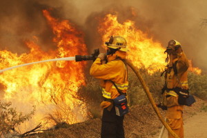 Firefighters in Southern California.