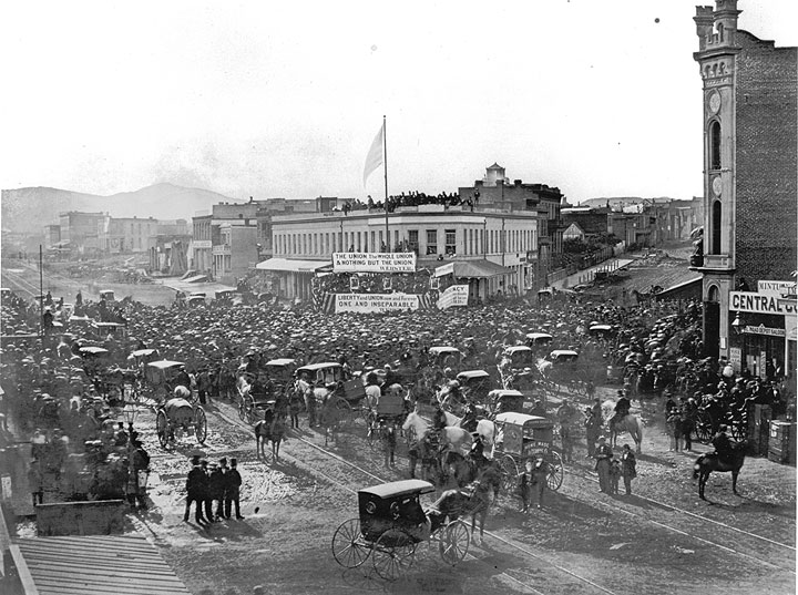 Union rally in San Francisco on July 4, 1861.