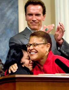 Karen Bass, Speaker of the Assembly.