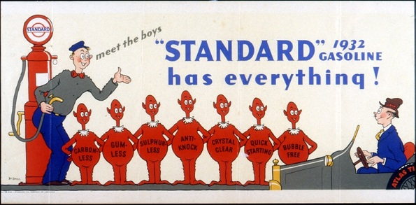 Standard Oil of California ad drawn by Theodore Geisel, better known as Dr. Seuss.