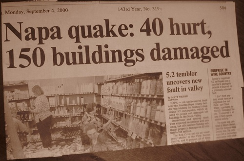 Napa earthquake (2000).
